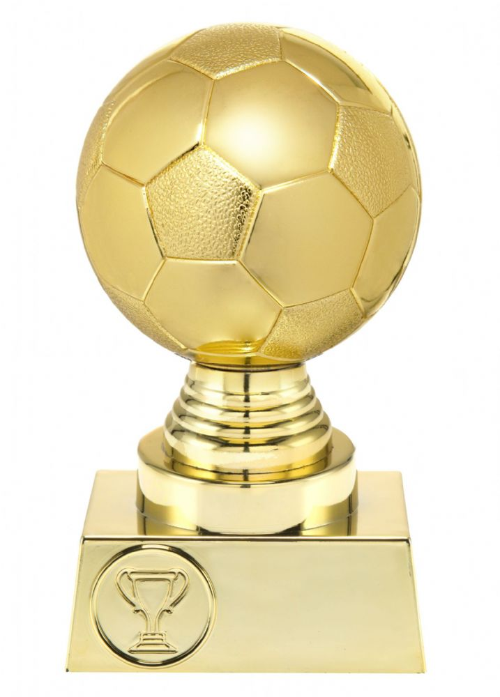 St 023 01 Gold 3d Football Ball Trophy Box Of 12 Trophies